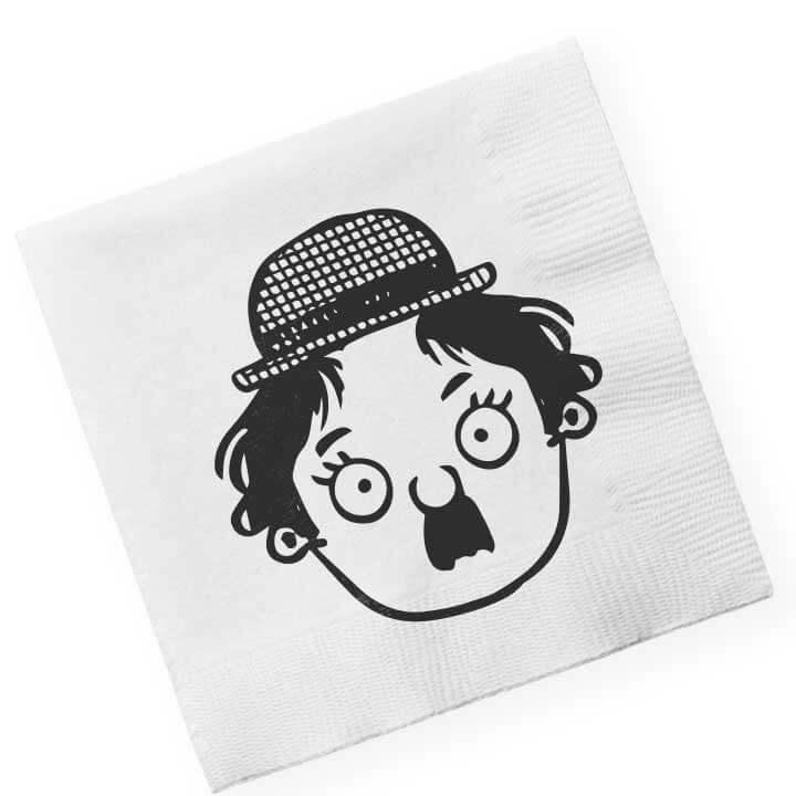 Servilleta con Charlie Chaplin