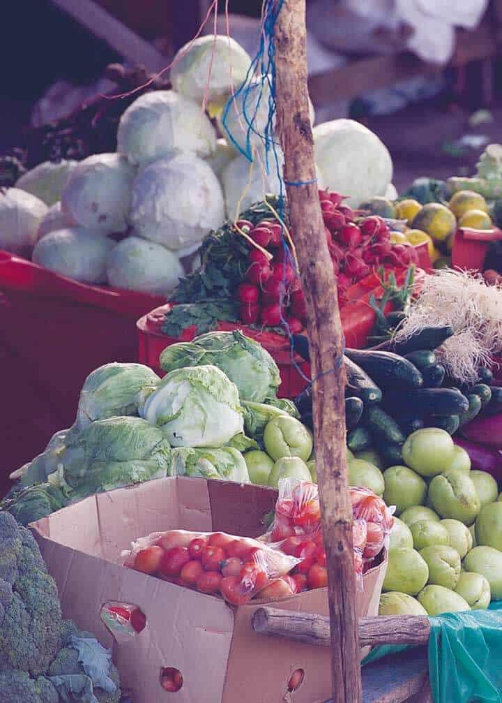 Feria del Agricultor - Composición de verduras