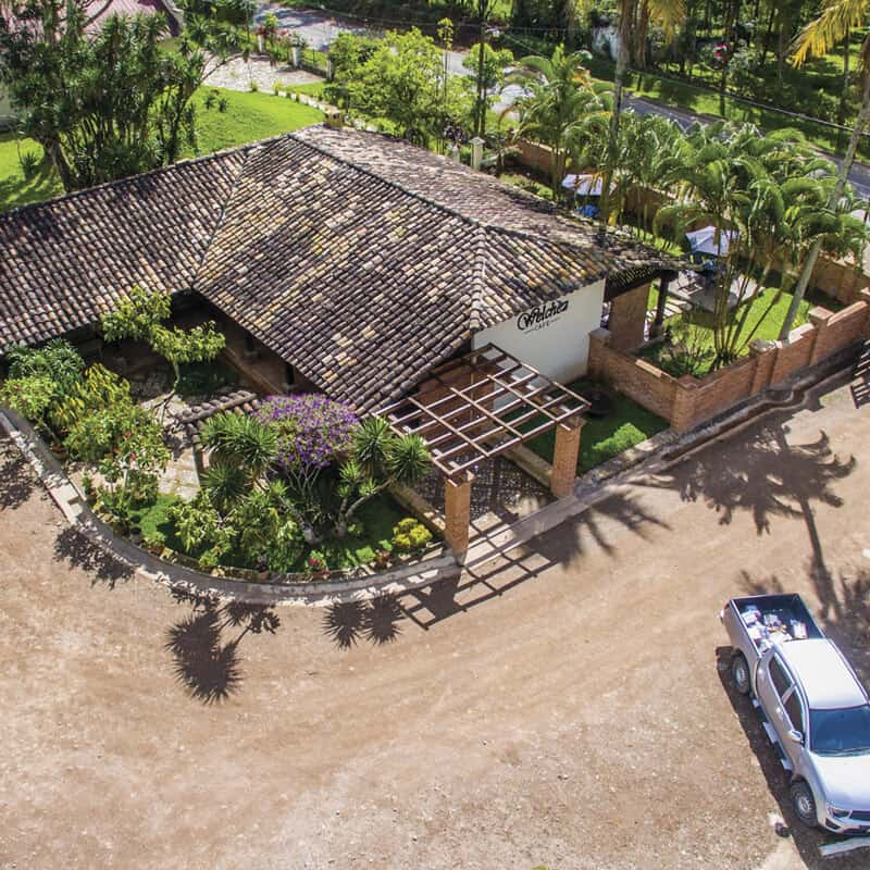 Welchez Café, un lugar perfecto para el desayuno al frente del parque central de Copán Ruinas.