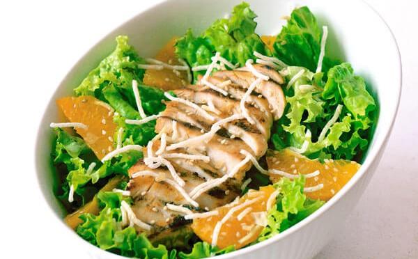 Ensalada de Pollo a la plancha con mandarina | Sazón Sula