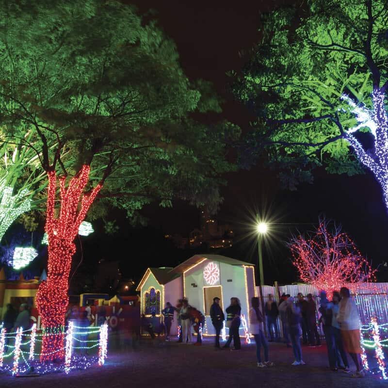 Luces nocturnas, la fiesta esta en Tegucigalpa, Villa Navideña Juan Pablo segundo