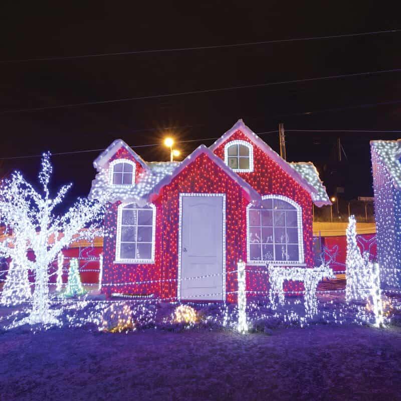 Cases de luces una navidad catracha