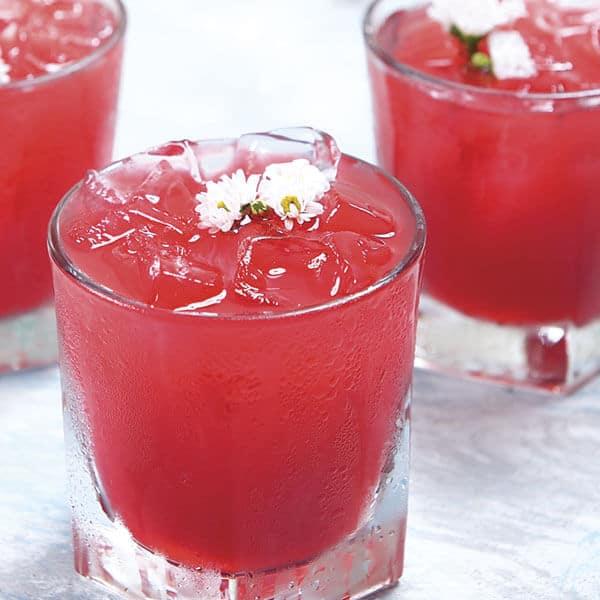 Piña con flor de jamaica una bebida elegante y refrescante