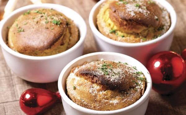 Souffle de maíz con jalapeño receta de cocina navideña
