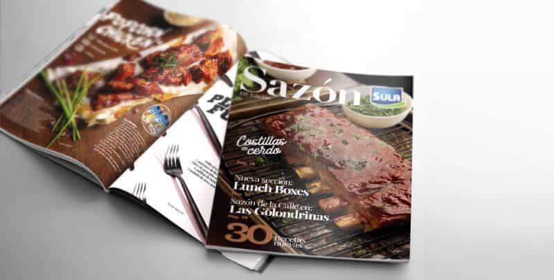 Sazón Sula onceava edición de la revista de cocina