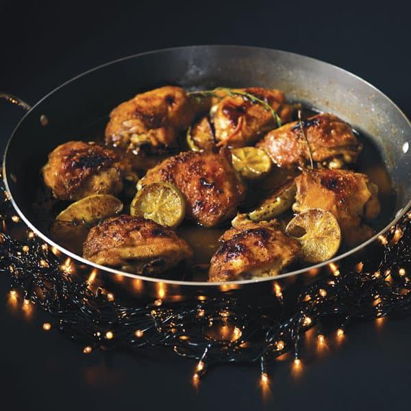 Pollo al limón una exquisita opción para la noche de navidad